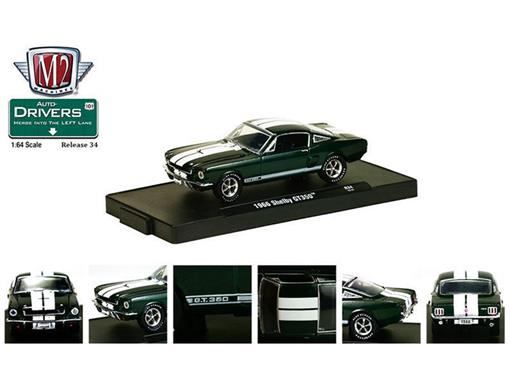 Ford: Shelby GT350 (1966) - Auto Drivers - Verde - 1:64 - M2 Machines