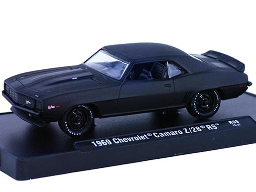 Chevrolet: Camaro Z/28 RS (1969) - Preto - 1:64 - M2 Machines