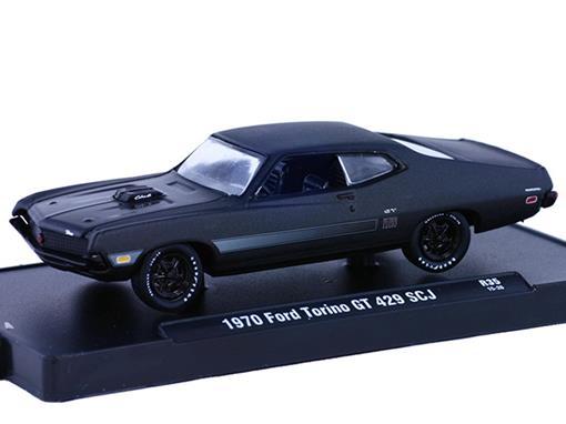 Ford: Torino GT 429 SCJ (1970) - Preto - 1:64 - M2 Machines