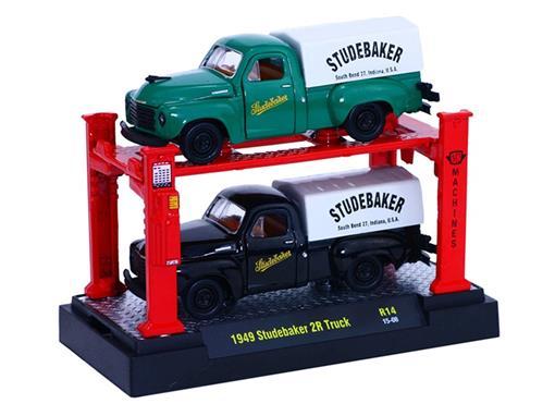Set: Studebaker 2R Truck (1949) - Verde/ Preto - 1:64 - Auto Lift