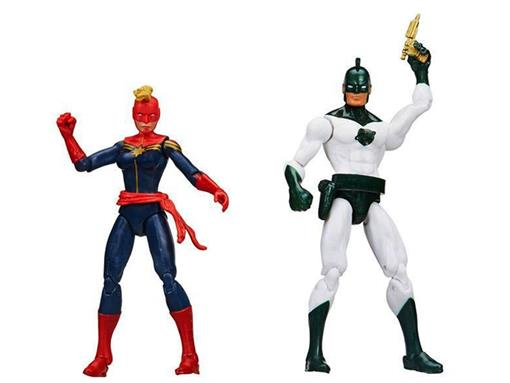 Bonecos Captain Marvel / Carol Corps - Cosmic Marvels - Comic Book - 3.75
