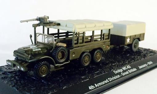 Caminhão: Dodge Wc-63 - 4th Armored Division - Great Britain (January, 1944) - 1:72 - Altaya