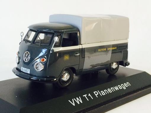 Volkswagen: T1 Kombi Planenwagen DB - 1:43 - Schuco