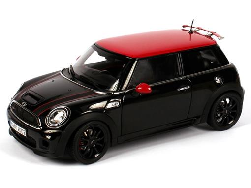 Mini Cooper: S - John Cooper Works  - Preto / Vermelho - 1:18 - Kyosho