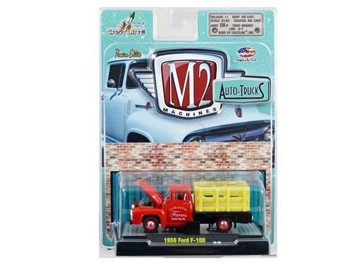 Ford: F-100 (1956) Auto-Trucks - Vermelho - 1:64 - M2 Machines