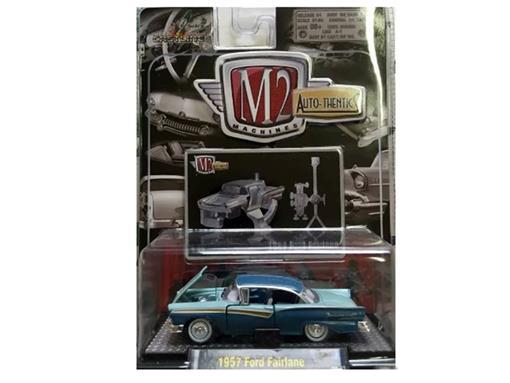 Ford: Fairlane (1957) - Azul - Auto Thentics - 1:64 - M2 Machines