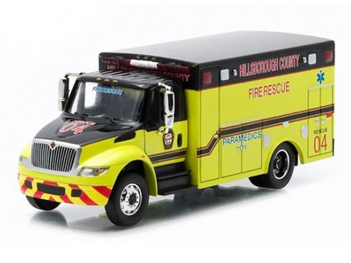 International DuraStar: Ambulance - HD Trucks - Série 3 - Amarelo - 1:64 - Greenlight