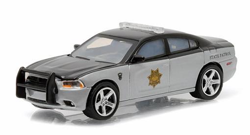 Dodge: Charger (2012) - Polícia - Hot Pursuit - Série 18 - 1:64 - Greenlight