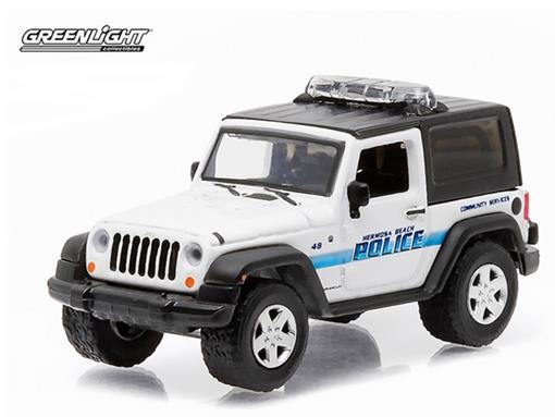 Jeep: Wrangler (2007) - Polícia - Hot Pursuit - Série 18 - 1:64 - Greenlight