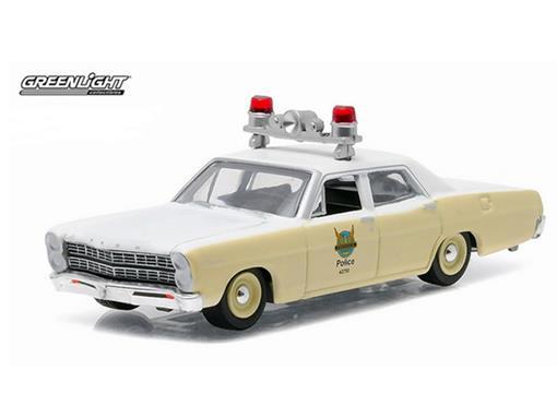 Ford: Custom (1967) - Polícia - Hot Pursuit - Série 18 - 1:64 - Greenlight