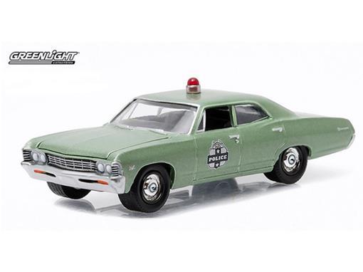 Chevrolet: Biscayne (1967) - Polícia - Hot Pursuit - Série 18 - 1:64 - Greenlight