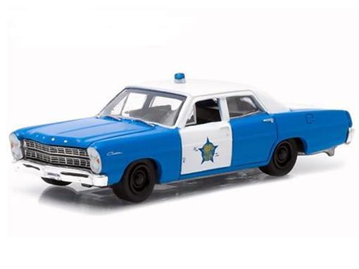 Ford: Custom (1967) - Polícia - Hot Pursuit - Série 16 - 1:64 - Greenlight
