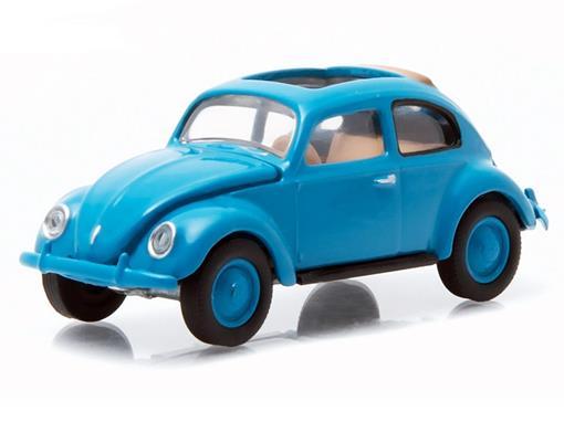 Volkswagen: Type 1 Split Window Beetle / Fusca (1946) - Club V-Dub - Série 2 - Azul - 1:64 - Greenlight