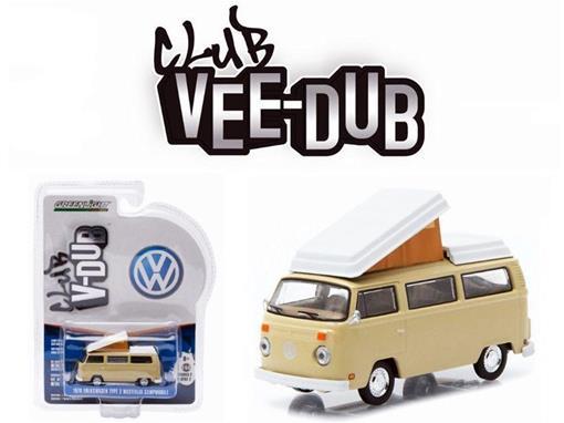 Volkswagen: Type 2 Kombi  - Acampamento Móvel (1970) - Club V-Dub - Série 2 - 1:64 - Greenlight