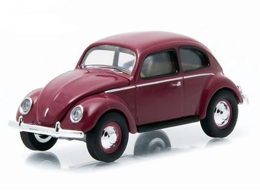 Volkswagen: Type 1 Split Window Beetle / Fusca (1951) - Club V-Dub - Série 2 - Borgonha - 1:64 - Greenlight