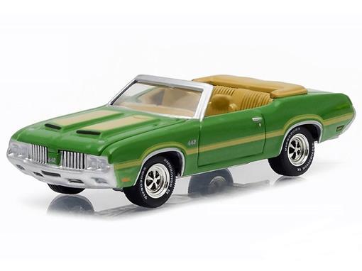 Oldsmobile: Cutlass 442 (1970) - Banett Jackson - Série 1 - 1:64 - Greenlight