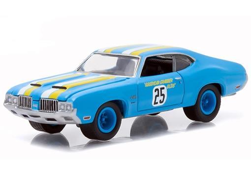 Oldsmobile: Cutlass 442 (1970) - Azul - GL Muscle - Série 14 - 1:64 - Greenlight