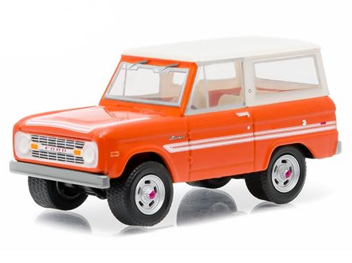 Ford: Bronco Explorer (1976) - Country Roads - Laranja / Branco - 1:64 - Greenlight