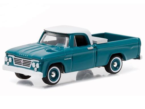 Dodge: D-100 (1963) - Country Roads - Verde / Branco - 1:64 - Greenlight