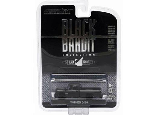 Dodge: D-100 (1963) - Black Bandit - Série 13 - 1:64 - Greenlight