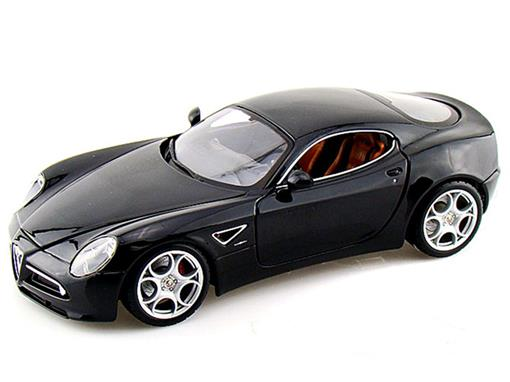 Alfa Romeo: 8C Competizione - Preto - 1:18 - Burago