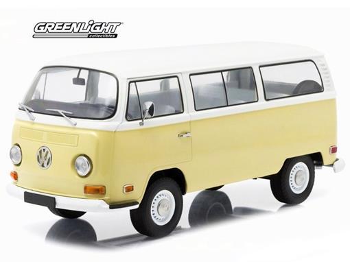 Volkswagen: Type 2 Kombi (1971) Bege / Branco - 1:18 - Greenlight