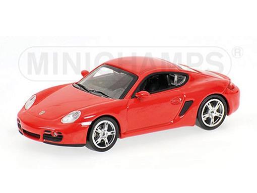 Porsche: Cayman (2005) - Vermelho - 1:64 - Minichamps