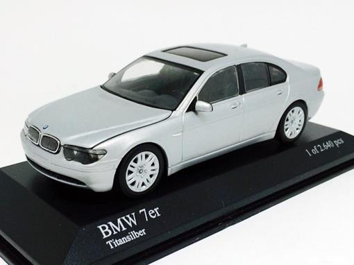 Bmw: 7 Series (2001) - Prata - 1:43 - Minichamps