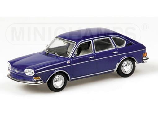 Volkswagen: 411 LE (1969) - Azul - 1:43 - Minichamps