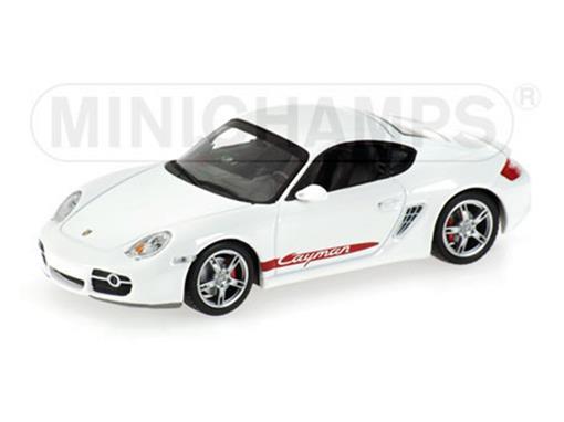 Porsche: Cayman S (2005) - Branco - 1:43 - Minichamps