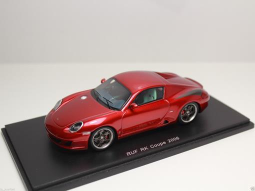 Porsche: Ruf RK Coupe (2006) - Vermelho - 1:43 - Spark Models