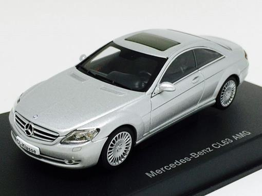Mercedes Benz: CL63 AMG - Prata - 1:43 - Autoart