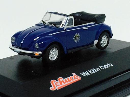 Volkswagen: Kafer Beetle Cabrio - Azul - 1:72 - Schuco