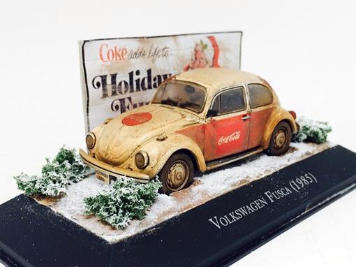 Diorama: Volkswagen Fusca (1985) - Customizado e Envelhecido -