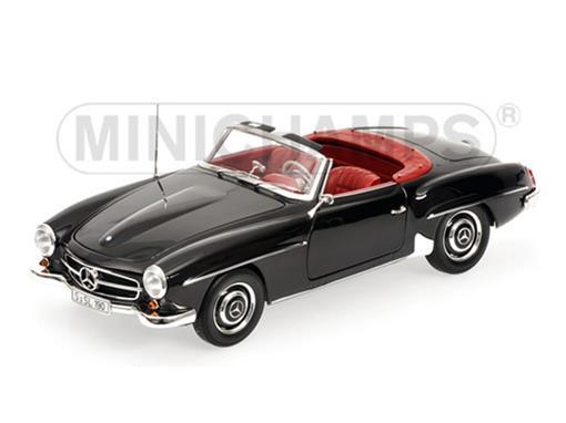 Mercedes Benz: 190 SL (1955) - Preto - 1:18 - Minichamps