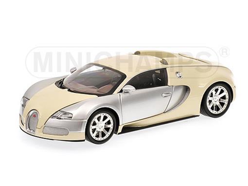 Bugatti: Veyron Edition Centenaire (2009) - Beige / Cromo - 1:18 - Minichamps