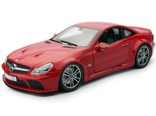Mercedes Benz: SL65 AMG Black Series (R230) 2009 - Vermelha - 1:18 - Minichamps