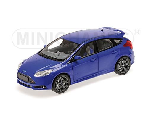 Ford: Focus ST (2011) - Azul - 1:18 - Minichamps