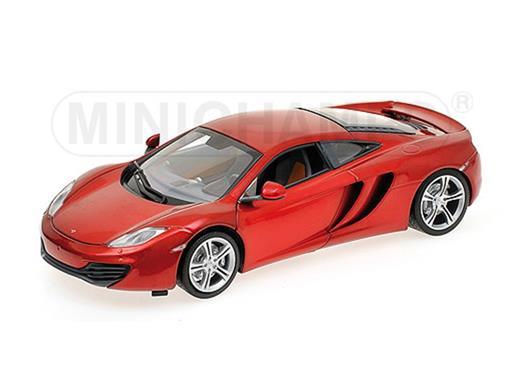 McLaren: MP4-12C (2011) - Vermelho Metálico - 1:18 - Minichamps