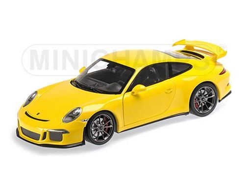 Porsche: 911 GT3 (991) 2013 - Amarelo - 1:18 - Minichamps