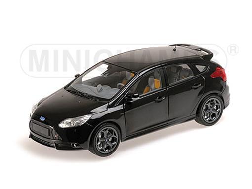 Ford: Focus ST (2011) - Preto - 1:18 - Minichamps