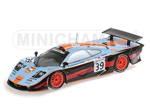McLaren: F1 GTR - Bellm/ Gilbert-Scott/ Sekiya #39 - Gulf Team Davidoff - 24H Le Mans (1997) - 1:18 - Minichamps