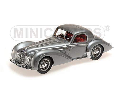 Delahaye: Type 145 V12 Coupe (1037) - Prata - 1:18 - Minichamps