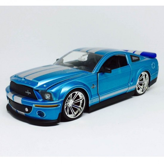 Ford: Shelby GT-500KR (2008) - Azul - Bigtime Muscle - 1:24 - Jada