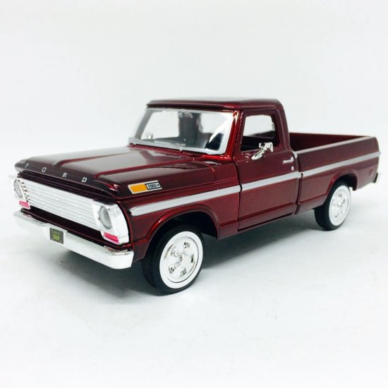 Ford: F-100 Pickup (1969) - Vermelho Metálico - 1:24 - Motor Max