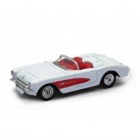 Imagem - Chevrolet: Corvette (1957) - Branco e Vermelho - 1:60-1:64 - Welly