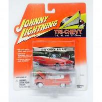 Imagem - Chevrolet: Bel Air (1955) - Vermelho - Tri-Chevy - 1:64 - Johnny Lightning
