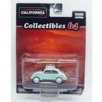 Imagem - Volkswagen: Beetle / Fusca (1946) c/ Prancha de Surf - California Toys - 1:64 - Greenlight