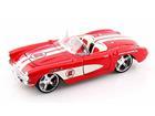 Imagem - Chevrolet: Corvette (1957) - Vermelho - AllStars - 1:24