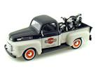 Ford: F-1 (1948) - 1:24 c/ Moto FL Panhead (1948) - Preta - 1:24